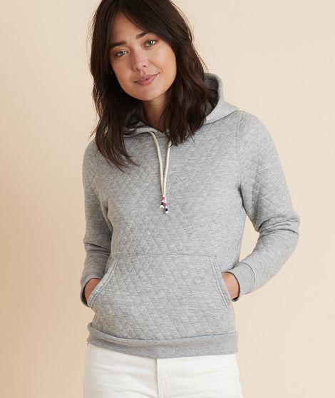 Corbet Hoodie in Light Heather Grey