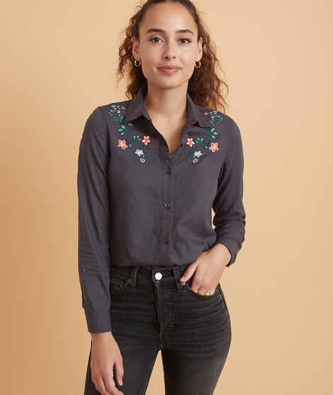 Aria Relaxed Embroidered Shirt