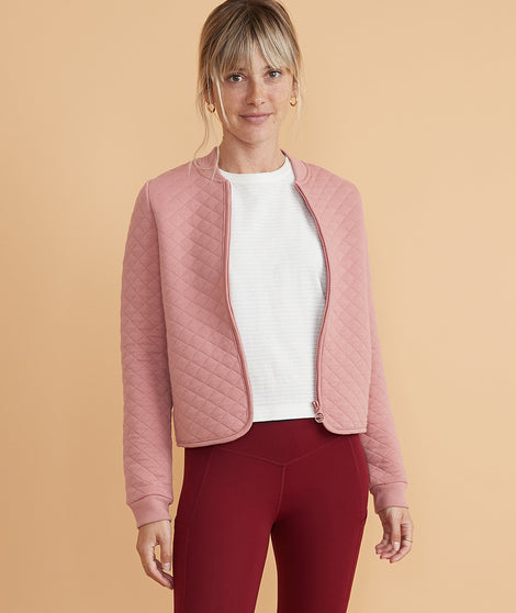 Corbet Swing Bomber in Ash Rose