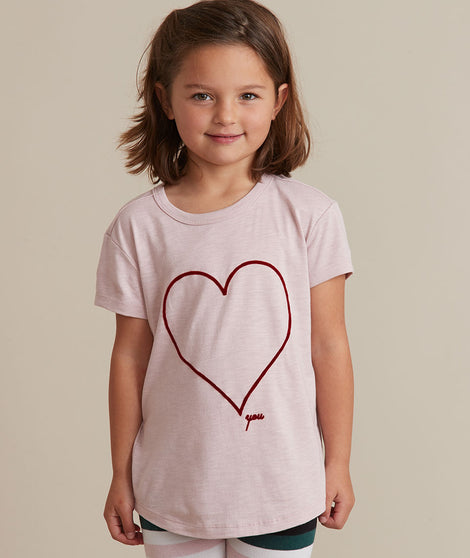 Mini Heart You Crew Tee in Lilac
