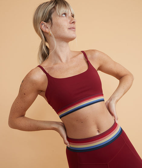 Margot Sports Bra in Cabernet
