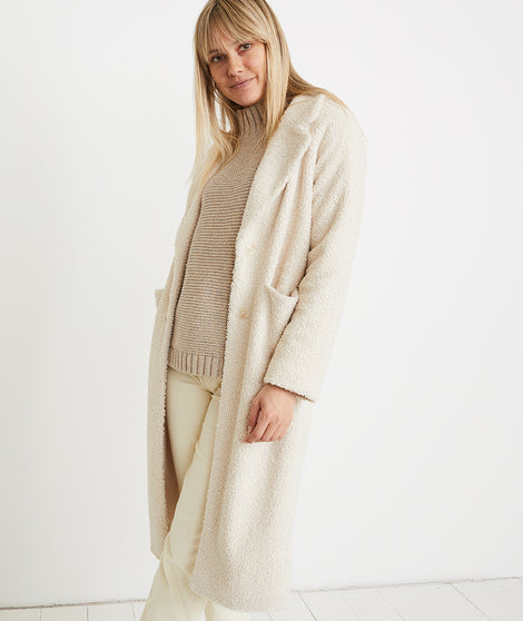 Lake Como Sherpa Coat in Cream