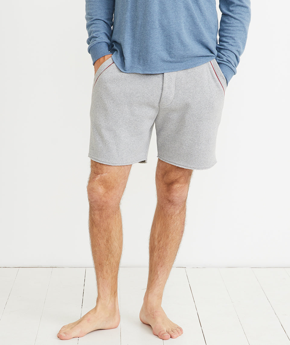 Re-Spun Lounge Short in Light Heather Grey