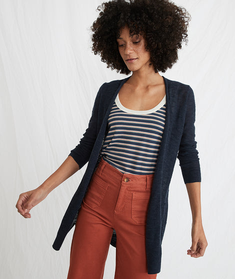 Nantucket Cardigan in Navy