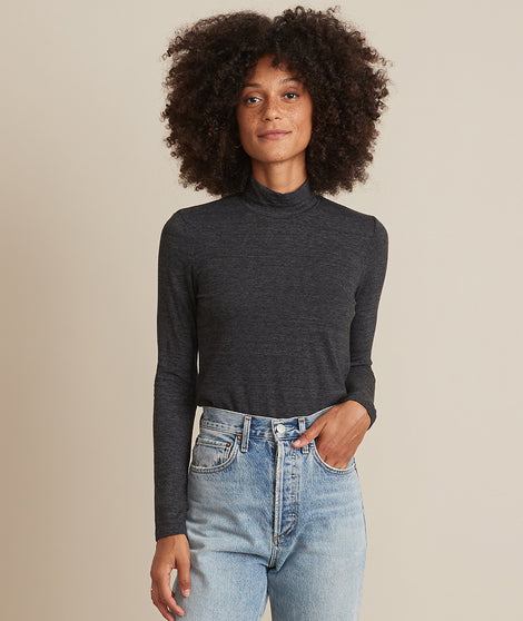 Lynn Turtleneck in Charcoal Heather