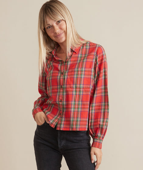 Zoe Crop Relaxed Shirt