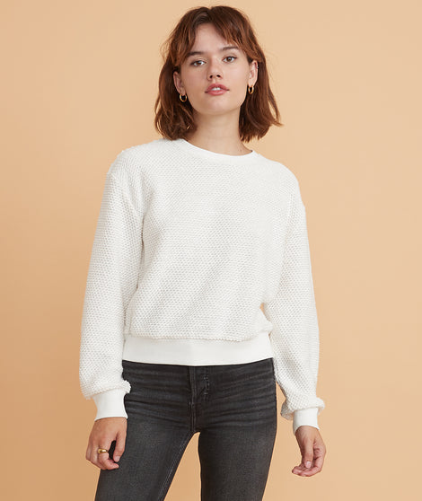 Birdseye Sweatshirt in Cream