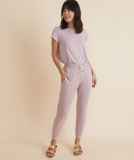Classic Jogger in Mauve Heather
