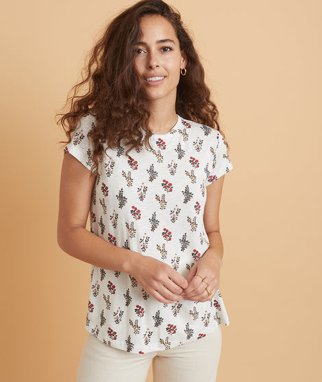 Swing Crew in Floral Bouquet Print