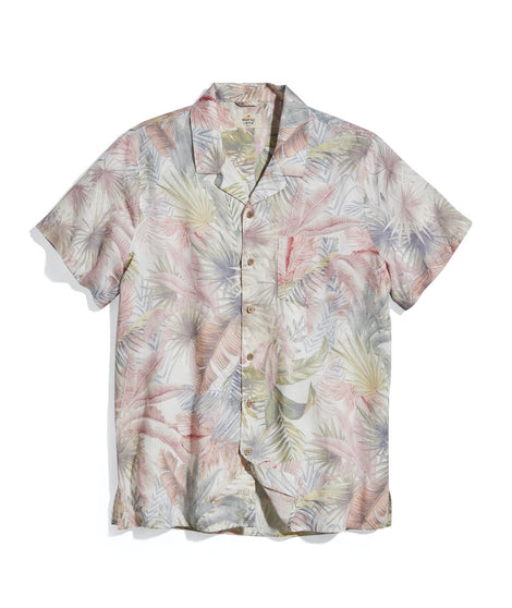 Tropical Print Resort Shirt in All Over Palm Print