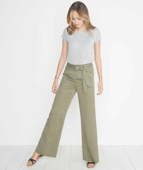 Ivy Pant in Worn Olive