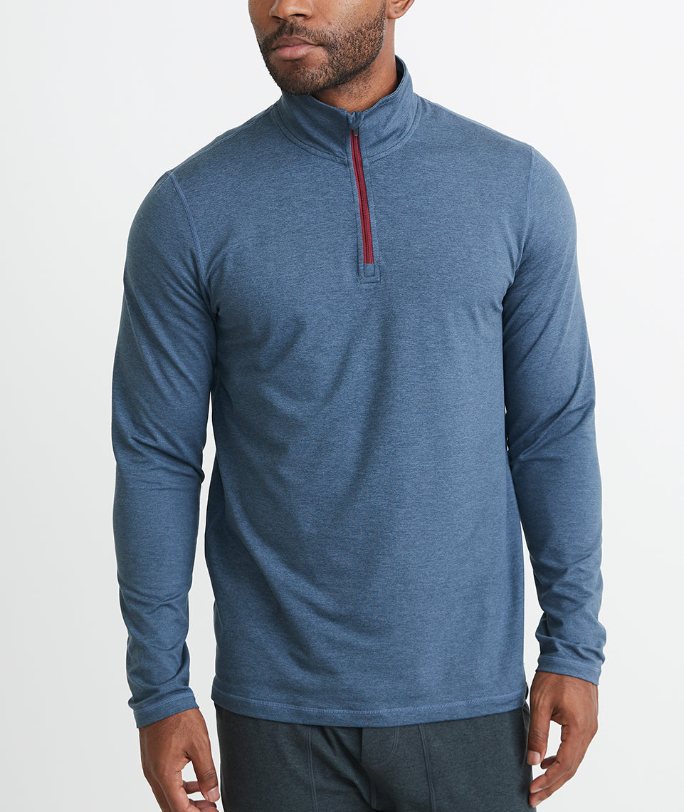 Huntley Quarter Zip in Bering Sea