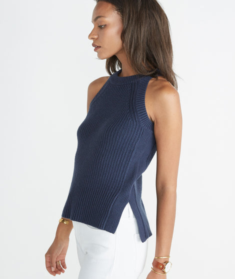 Vista Sweater Tank - Mood Indigo