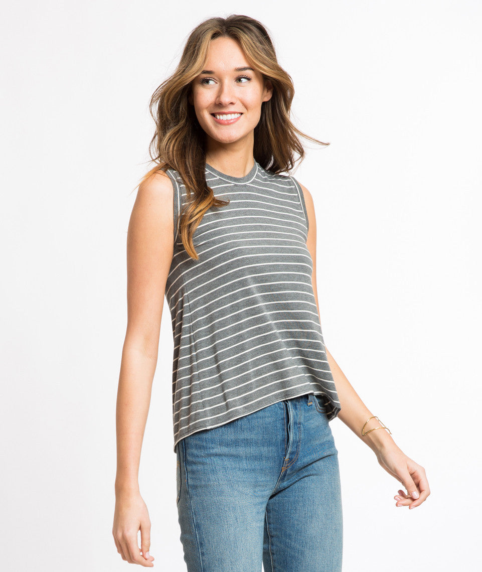 Tara Tulip Tank - Striped