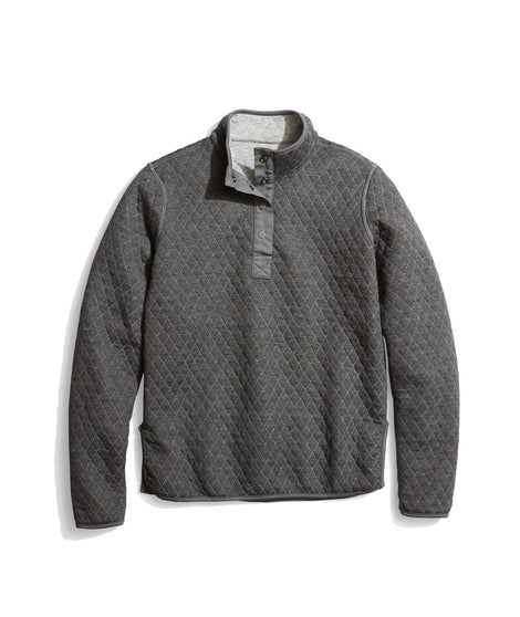 Women's Reversible Corbet Pullover in Heather Grey/Charcoal
