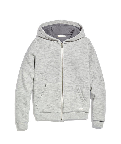 Women's Lined Hoodie in Heather Grey/Asphalt Grey