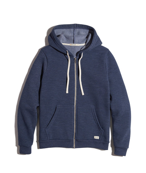 Women's Sherpa Zip Hoodie in Deep Denim