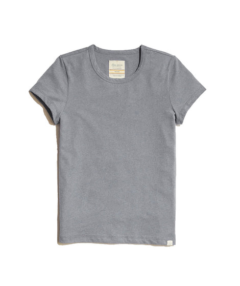 Women's Re-Spun Crew in Upcycled Grey