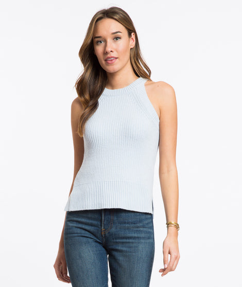 Vista Sweater Tank - Halogen Blue