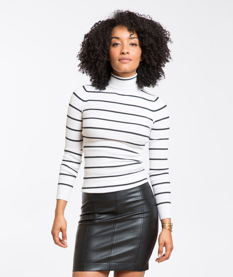 Parker Jersey Ribbed Turtleneck