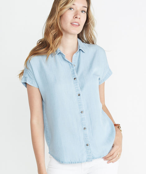 Willow Shortsleeve Chambray Button Down