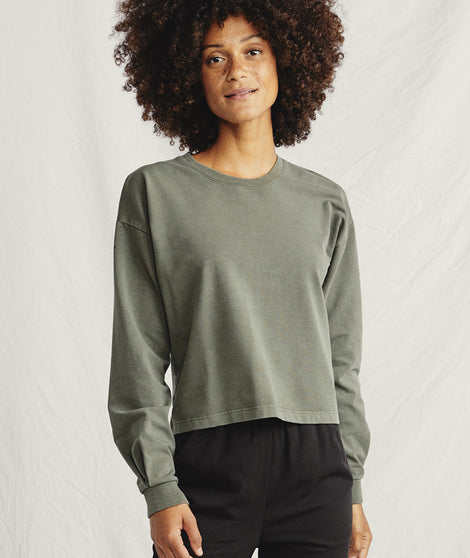 Tate Sweatshirt in Dusty Olive
