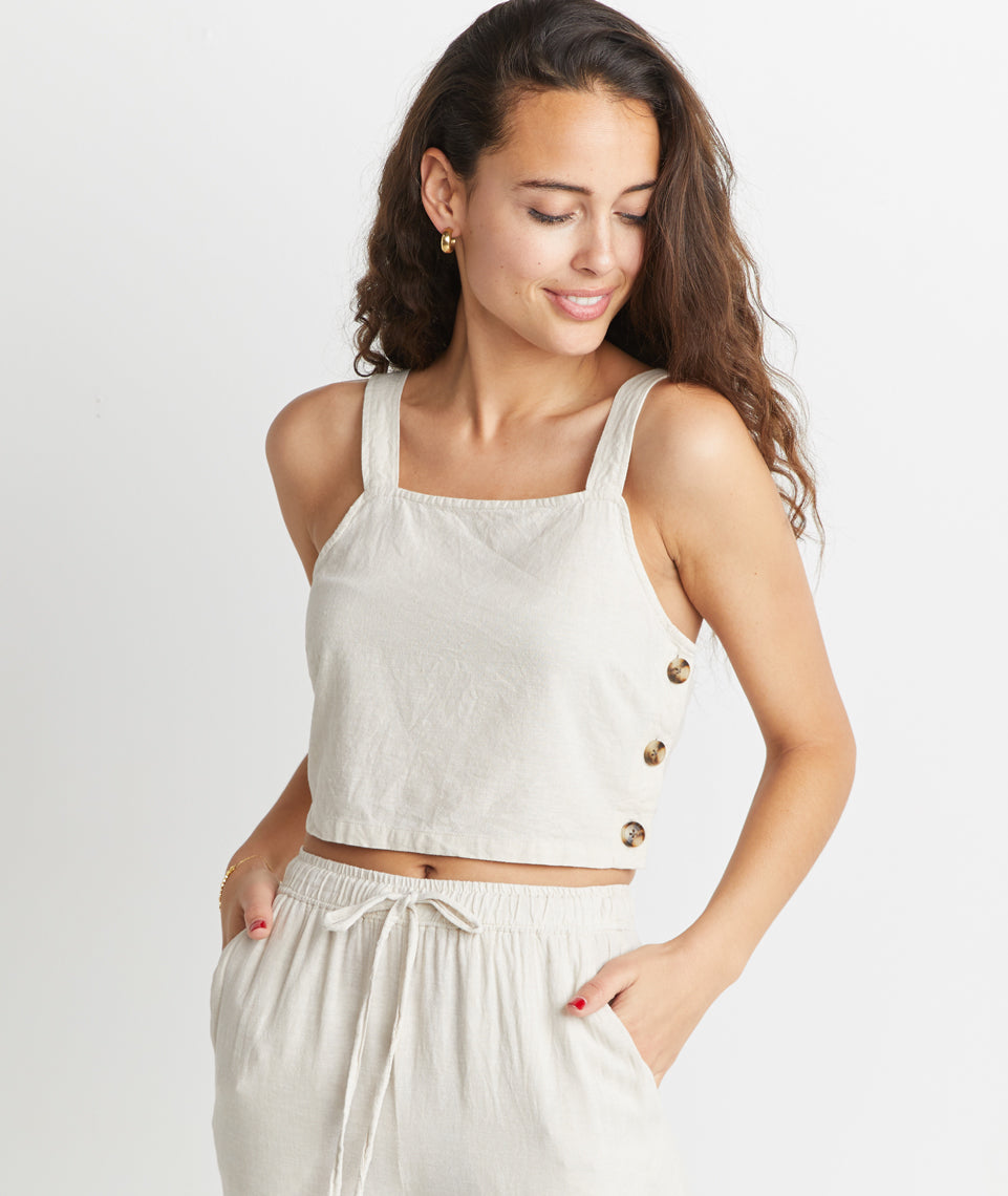 Andi Cropped Tank in Natural