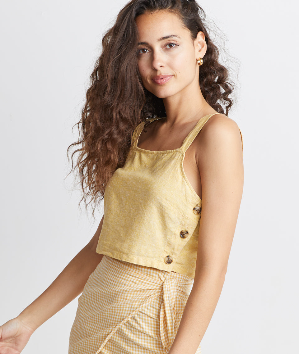 Andi Cropped Tank in Honeycomb