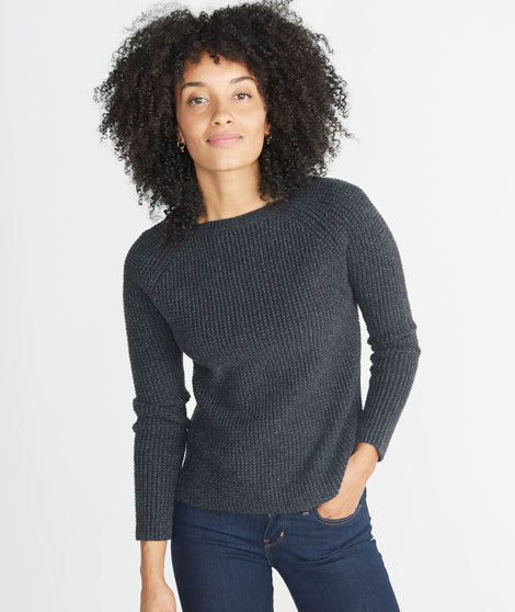 Aspen Sweater in Jet Heather