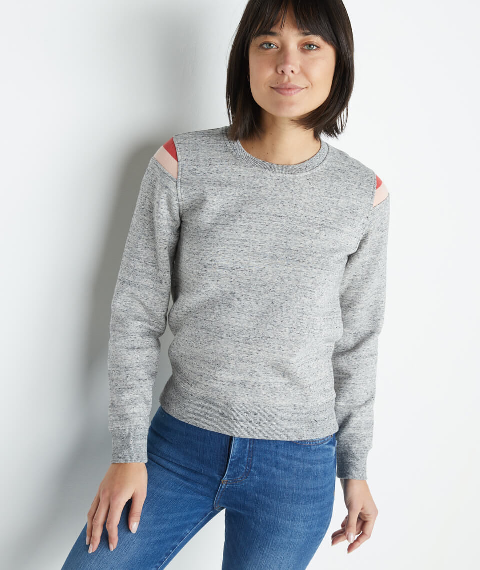 Banks Crewneck in Light Heather Grey