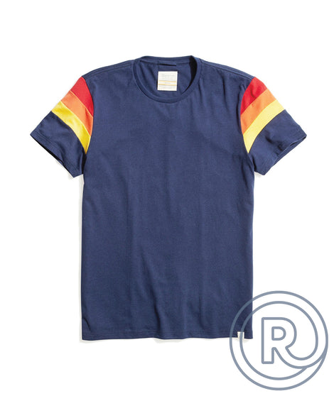 Re-Spun Banks Tee in Navy
