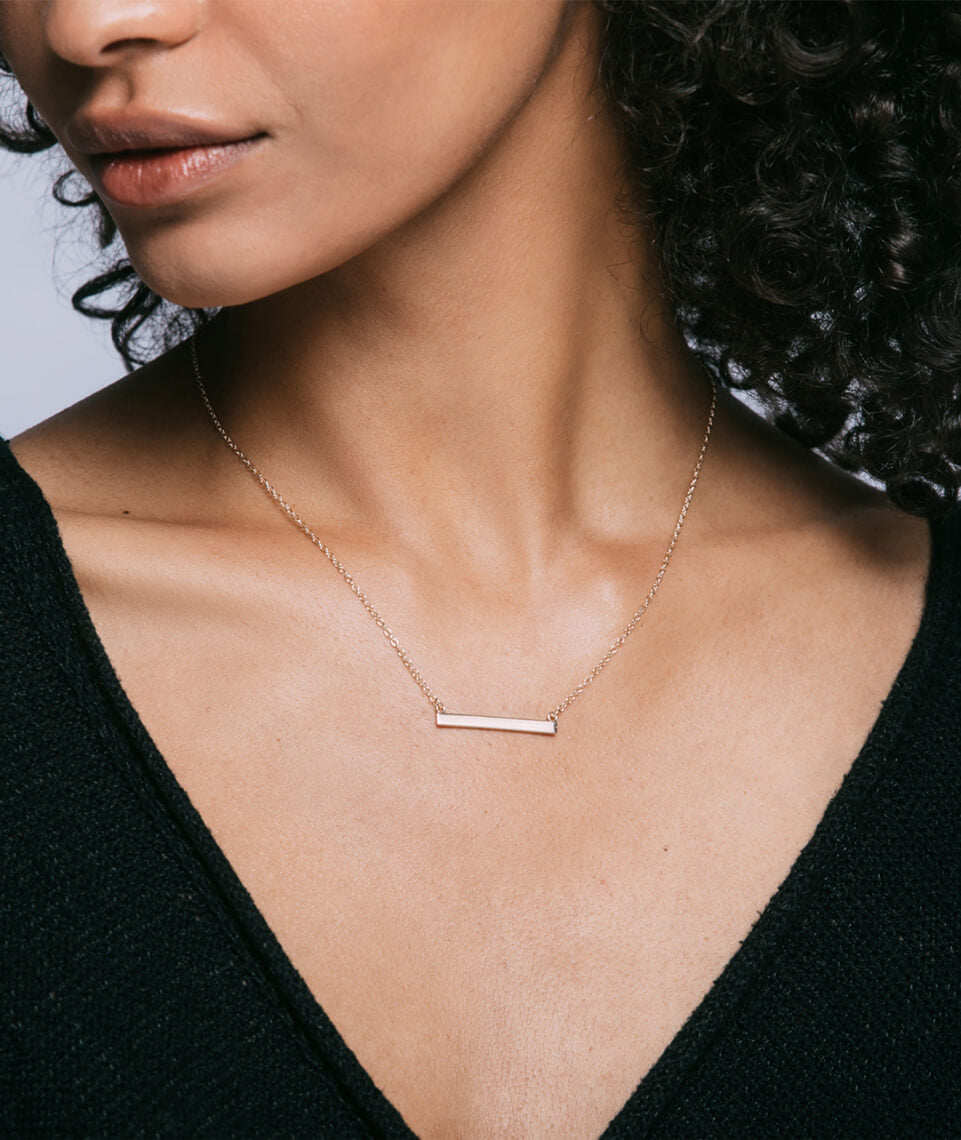 Kris Nations Horizontal Bar Necklace