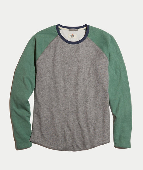 Baseball Raglan in Heather Grey/Dark Ivy
