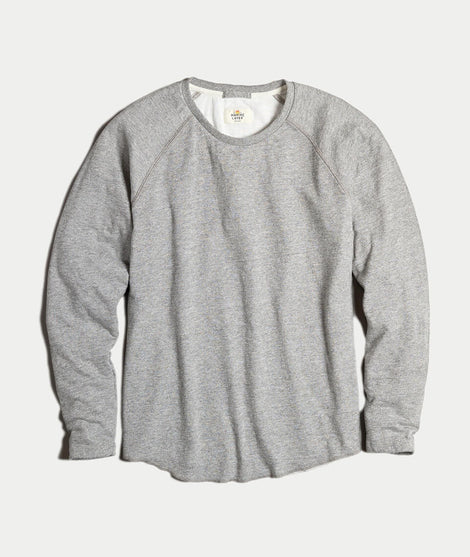 Double Knit Baseball Raglan in Heather Grey