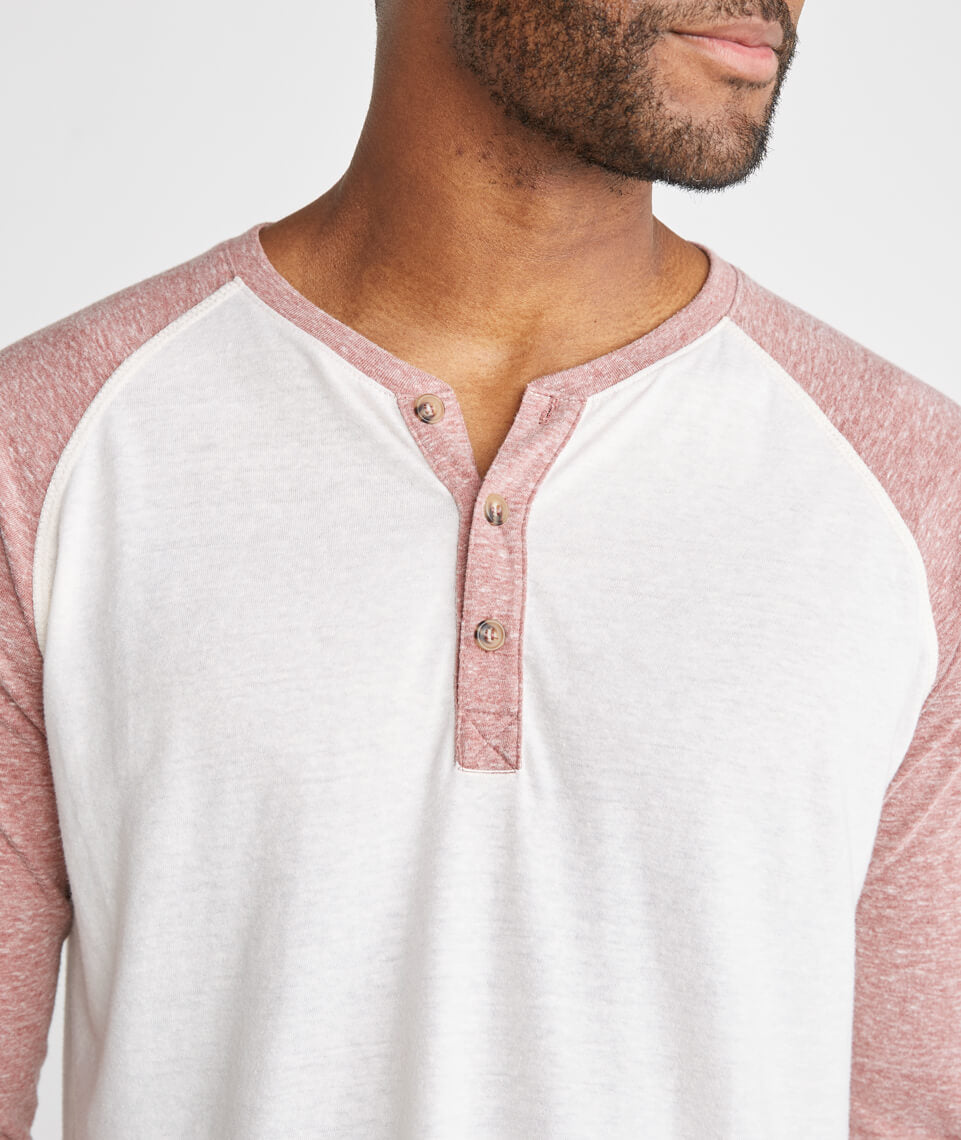 Baseball Henley in Rosewood