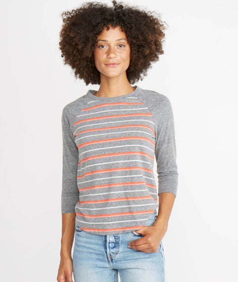 Lightweight Baseball Raglan in Multi Stripe