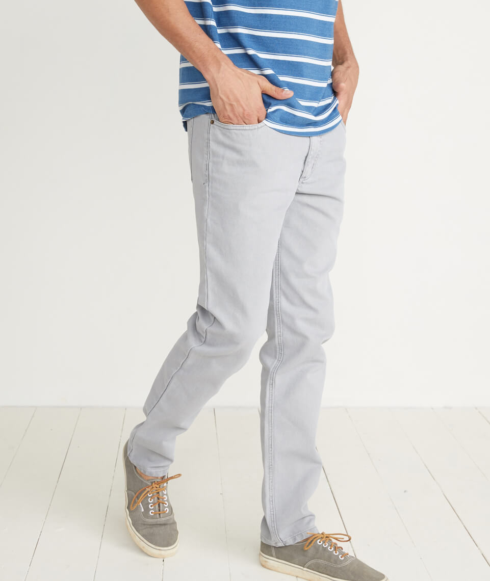 Beck 5 Pocket Pant in Mirage Grey