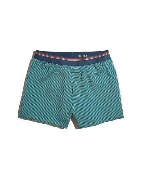 Best Boxers Ever in Navy/Green Stripe