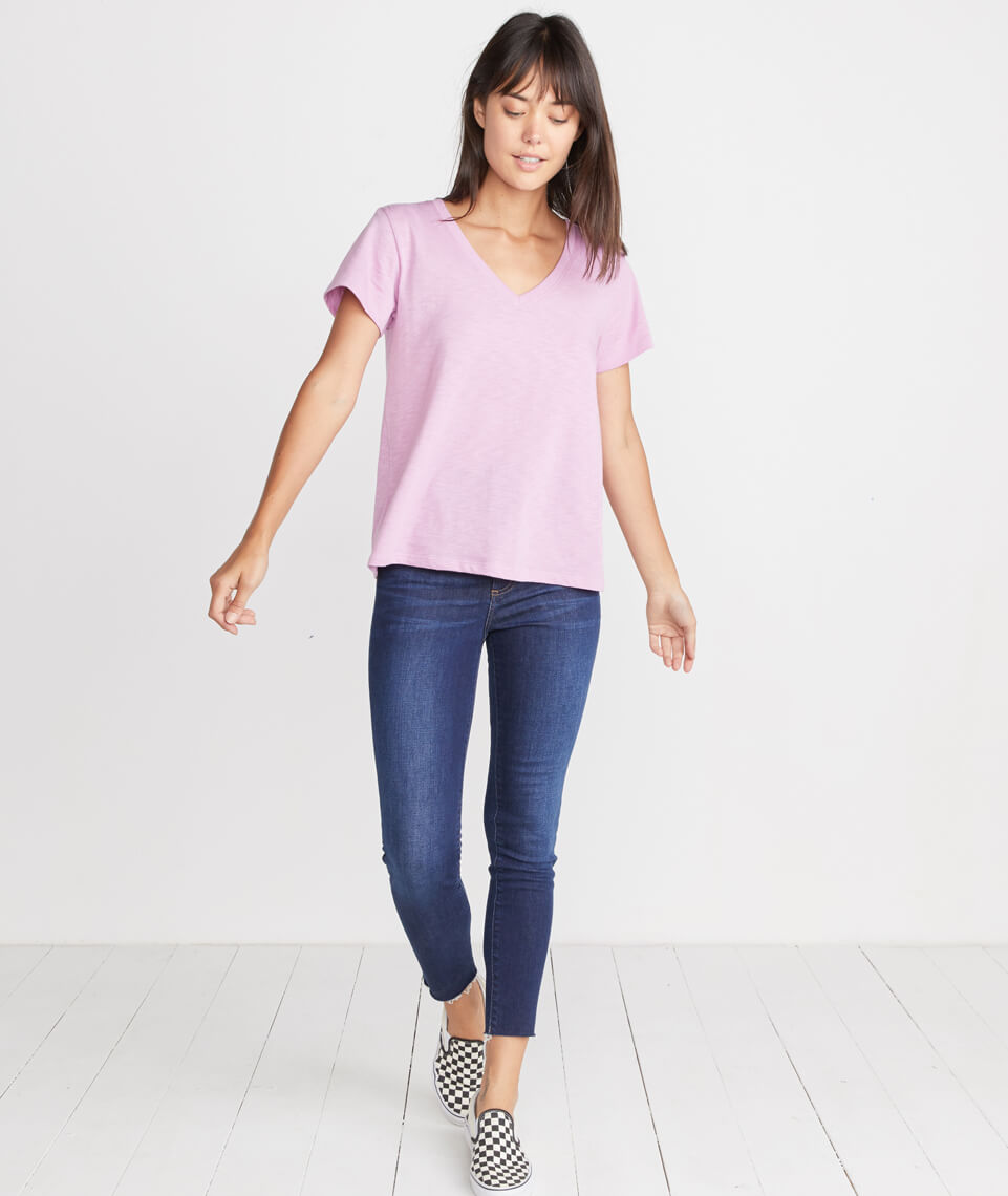 Boyfriend V-Neck in Lilac