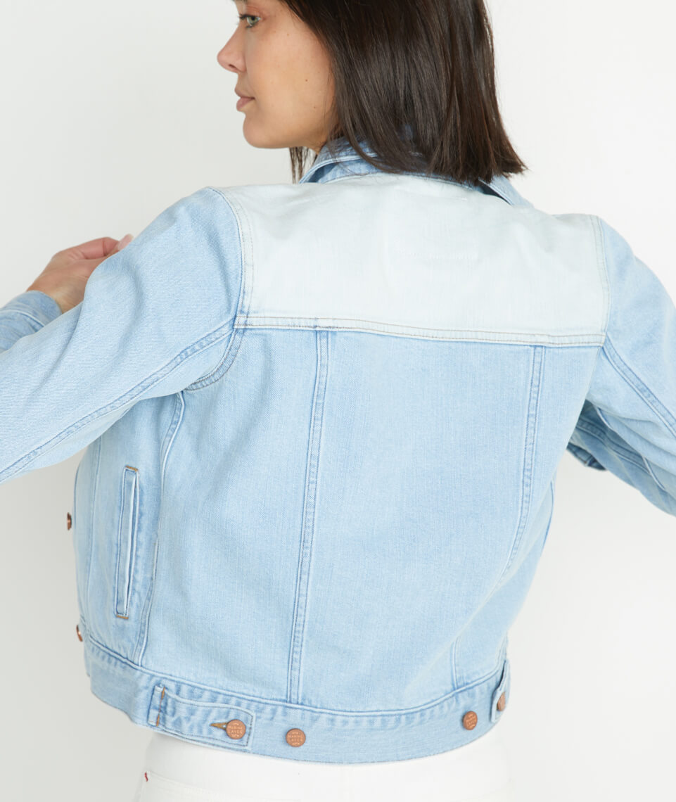 Bleached Blocked Jacket