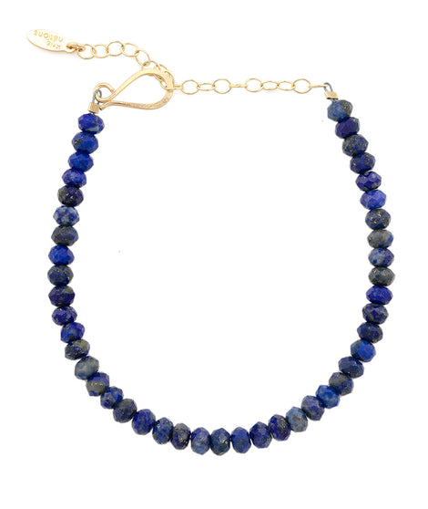 Kris Nations Lapis Faceted Gemstone Beaded Bracelet