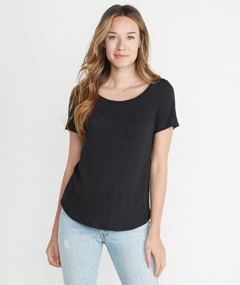 Boyfriend Pocket Tee - Black