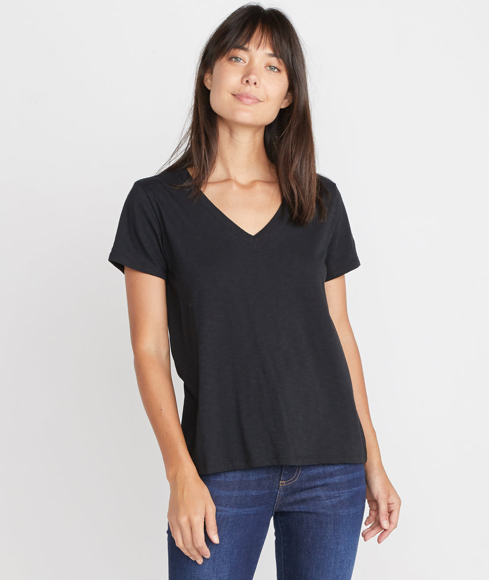Boyfriend V-Neck in Black