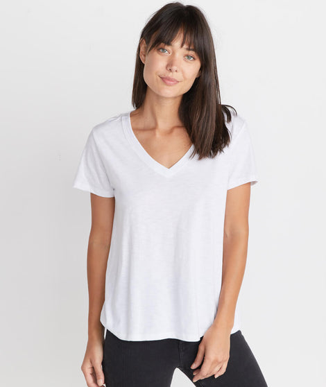 Boyfriend V-Neck in White