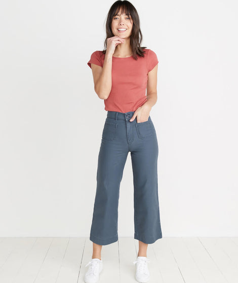 Bridget Wide Leg Pant in Ink