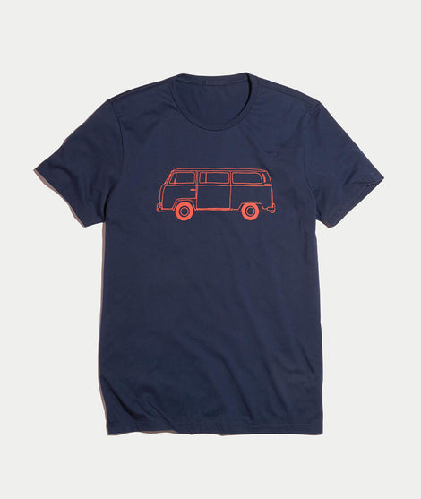Bus Tee in True Navy