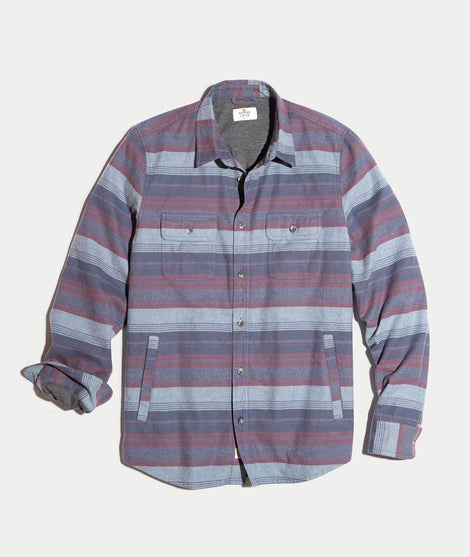Camping Shirt in Blue Stripe