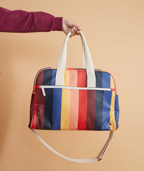 Re-Spun Overnight Bag in Multi Stripe