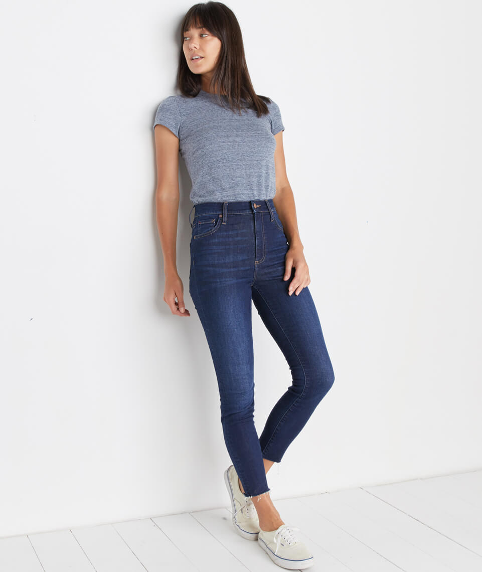 High Skinny Jean in Dark Wash