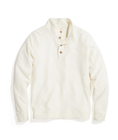Clayton Textured Pullover in Antique White